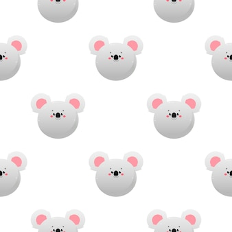 Cute kawaii koala, koala bear. animal seamless pattern.