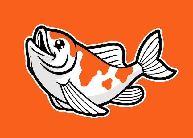 Cute kawaii koi fish