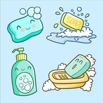 Cute kawaii soap set for handwash day
