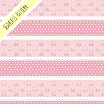 귀여운 귀여운 별 완벽 한 패턴