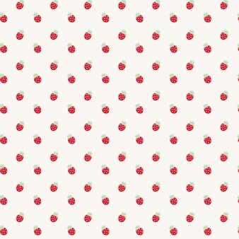 かわいいかわいいイチゴの透明なシームレスパターン