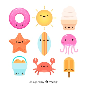 귀여운 귀엽다 여름 캐릭터 컬렉션