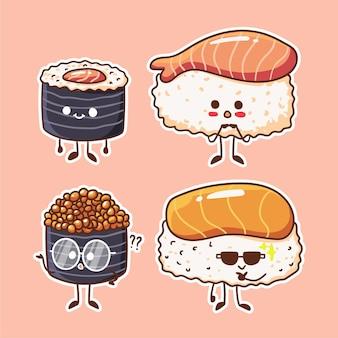 Cute and kawaii sushi character illustration