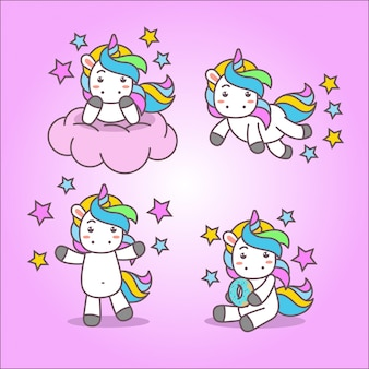 Cute kawaii unicorn