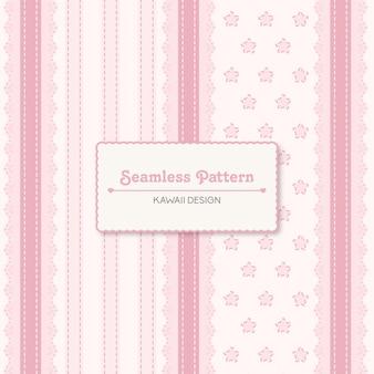 かわいいカワイイヴィンテージピンクのシームレスパターン