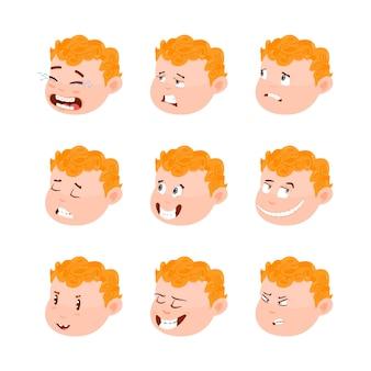 Cute kid avatars, emotions.