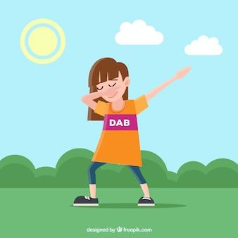 Cute kid doing dabbing