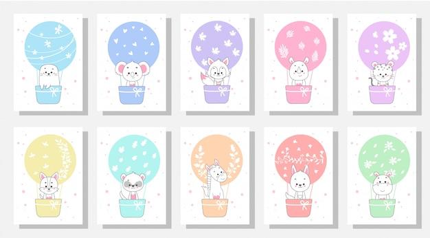 Cute kids greeting cards