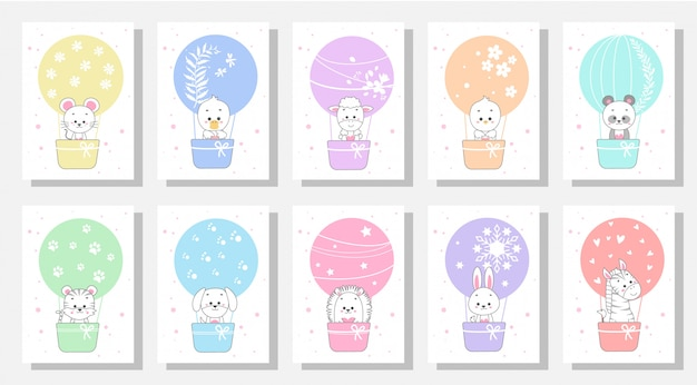 Cute kids greeting cards