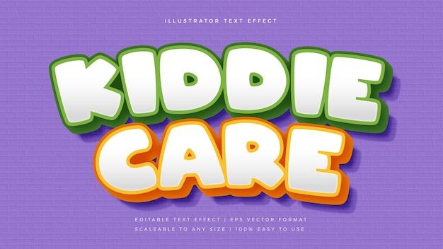 Эффект шрифта в стиле игривого текста для милых детей