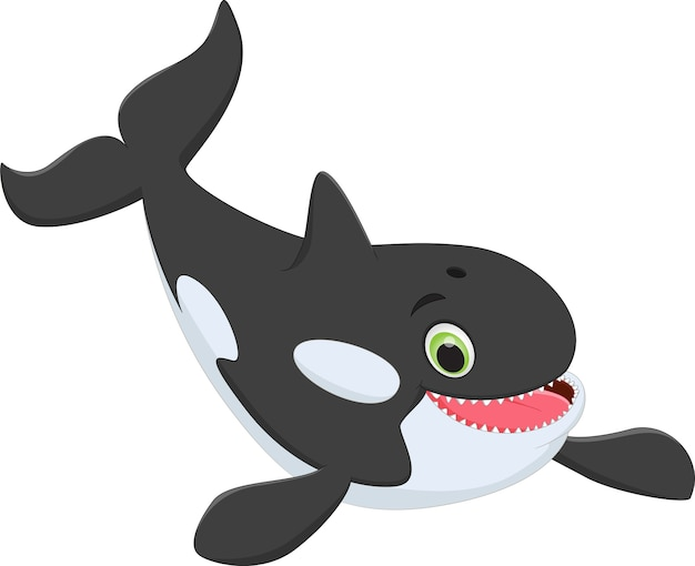 かわいいキラークジラの漫画