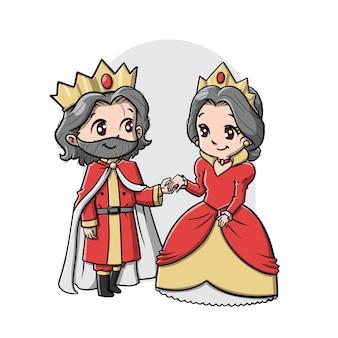 かわいい王と女王の漫画