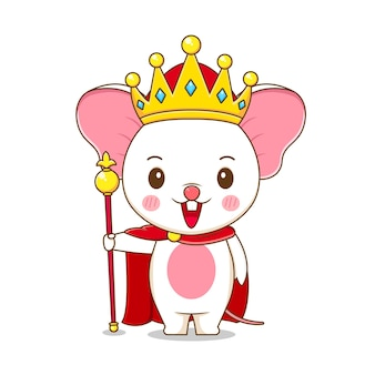 A cute king mouse character