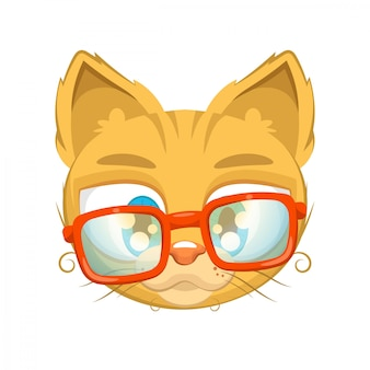 Cute kitten with glasses
