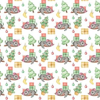 Симпатичные коала фон рождественские животные