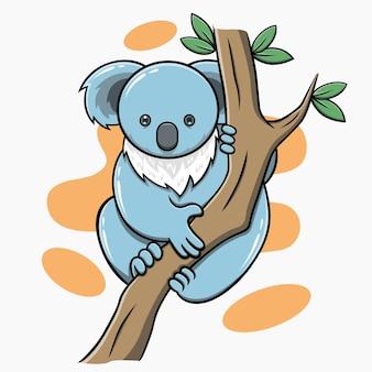 Милый медведь коала рисованной