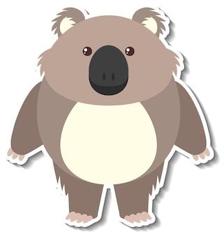 Un simpatico adesivo animale cartone animato koala