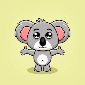 Симпатичные иллюстрации шаржа коала