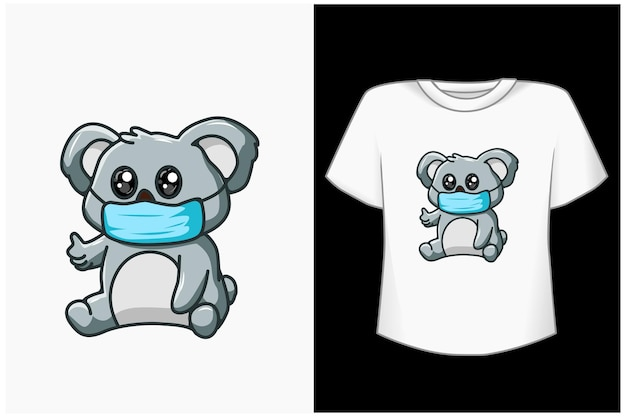 Cute koala cartoon illustration