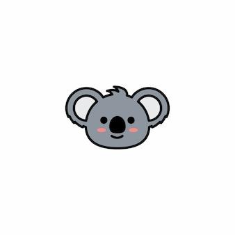 かわいいココア顔の漫画ベクトルアイコン