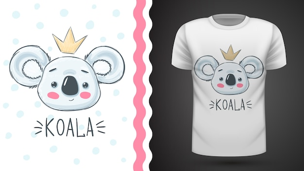Cute koala idea for print t-shirt