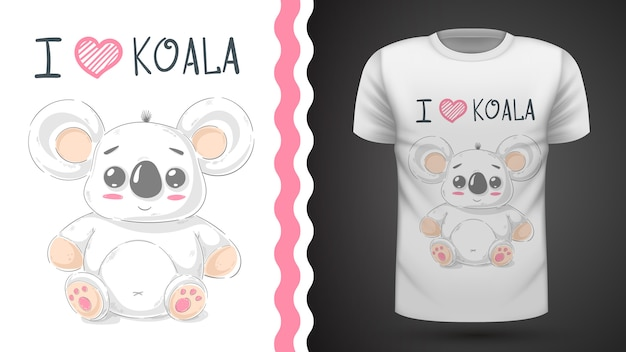 Cute koala - idea for print t-shirt