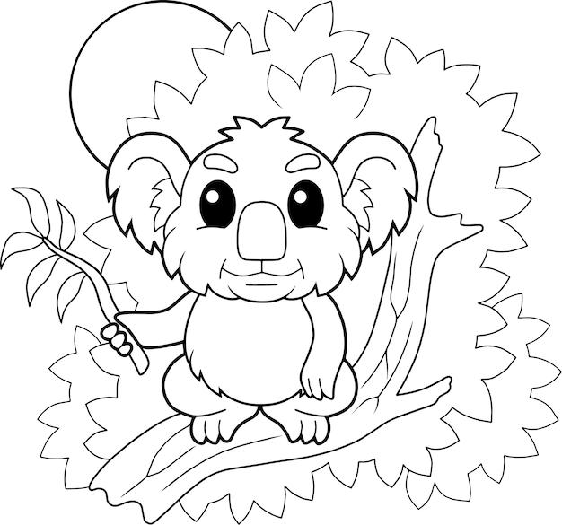Милая коала иллюстрация