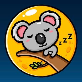 Cute koala is sleeping