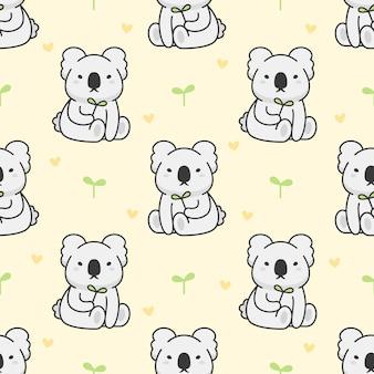 Cute koala seamless pattern