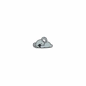Cute koala sleeping icon