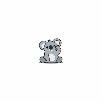 Cute koala winking eye cartoon
