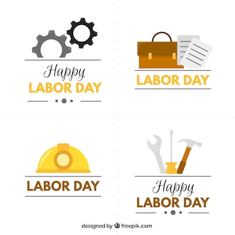 Cute labor day badges