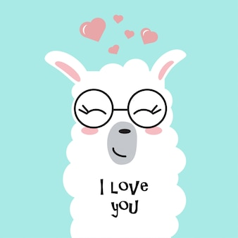 Cute lama in love.
