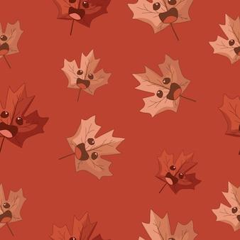 Симпатичные листья бесшовный фон