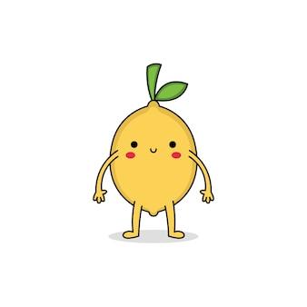 かわいいレモンの漫画のキャラクター