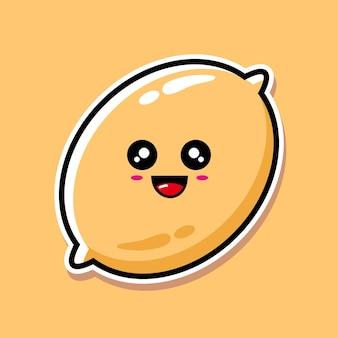 귀여운 레몬 만화 디자인