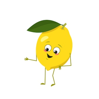 Милый лимонный персонаж