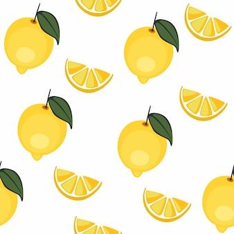 Симпатичный лимонный узор