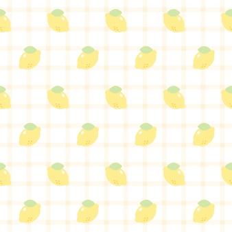 かわいいレモンシームレスな繰り返しパターン、壁紙の背景、かわいいシームレスパターン背景