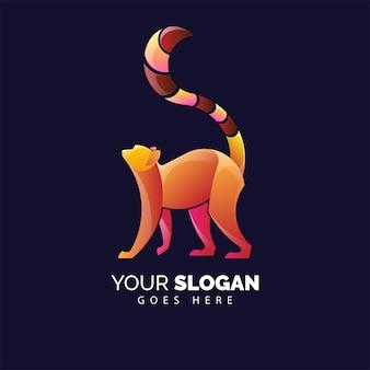 Cute lemur logo for brand identity