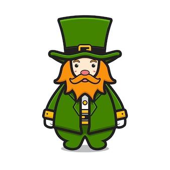 かわいいレプラコーン聖パトリックの日キャラクター漫画イラスト聖パトリックの日アイコンコンセプト