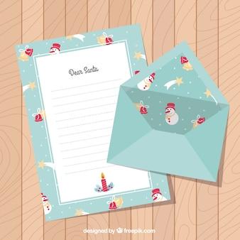 산타 클로스와 봉투에 대 한 귀여운 편지