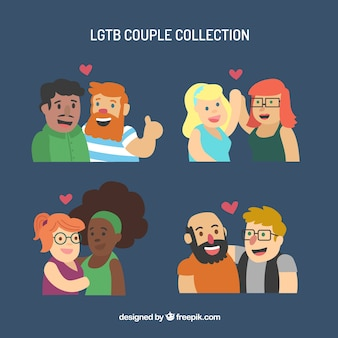 Cute lgbt couple collection