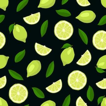 Cute limes seamless pattern.