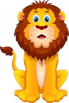 Мультфильм милый лев
