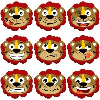 かわいいライオン顔の表情