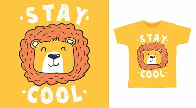 かわいいライオンのtシャツのデザイン