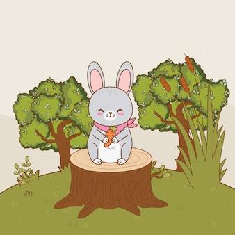 Cute little animal cartoon