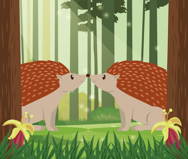 かわいい小さなアルマジロ動物キャラクターベクトルイラストデザイン