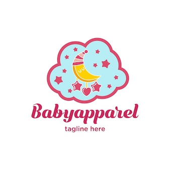 Cute little baby apparel logo series